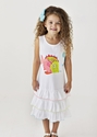 Lemon Loves Lime Fish Dress in White