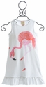 Lemon Loves Lime Flamingo Fantastic Dress in White