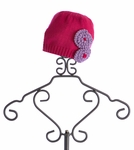 Lemon Loves Lime Fuchsia Baby Hat with Flowers (3/6 Mos, 12/18 Mos, 18/24 Mos)