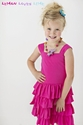 Lemon Loves Lime Fuchsia Girls Twirly Dress