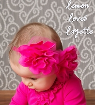 Lemon Loves Lime Fuchsia Headband (Size SM 6/24Mos)