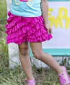 Lemon Loves Lime Fuchsia Skort for Girls