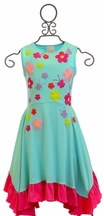 Lemon Loves Lime Full Bloom Dress in Blue (Size 2)