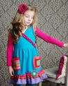 Lemon Loves Lime Girls Colorful Artist Dress