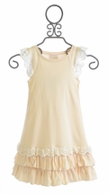 Lemon Loves Lime Girls Ivory Whisper Wish Dress (2,3,4,8)