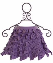 Lemon Loves Lime Girls Purple Ruffle Skirt
