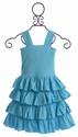 Lemon Loves Lime Girls Twirly Dress in Aqua