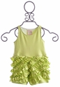 Lemon Loves Lime Green Ruffle Romper for Infants