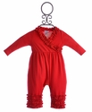 Lemon Loves Lime Holiday Romper for Infants Red