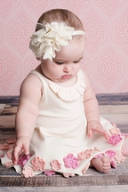 Lemon Loves Lime Infant Girl Hydrangea Dress