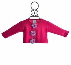 Lemon Loves Lime Infant Girls Cardigan Poppy Fuchsia (3/6 Mos, 18/24 Mos)