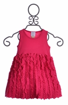 Lemon Loves Lime Infant Girls Dress in Fuchsia (0-3Mos & 18-24Mos)