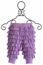 Lemon Loves Lime Infant Ruffle Pants in Purple (0/3Mos,6/12Mos,12/18Mos)