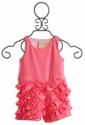 Lemon Loves Lime Infant Ruffle Romper in Rose