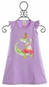 Lemon Loves Lime Lavender Girls Dress with Alligator