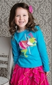 Lemon Loves Lime Long Sleeve Girls Tee Frog Princess