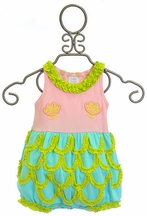 Lemon Loves Lime Mermaid Baby Romper