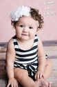 Lemon Loves Lime Navy By the Sea Baby Romper