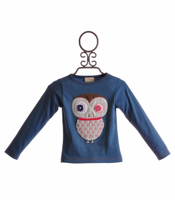Lemon Loves Lime Night Owl Tee Stellar Blue