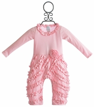 Lemon Loves Lime Peony Romper for Girls in Pink