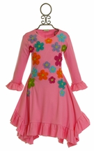 Lemon Loves Lime Pink Floral Dress for Girls