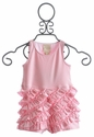 Lemon Loves Lime Pink Infant Ruffle Bud Romper