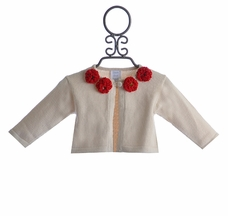 Lemon Loves Lime Poppy Cardigan for Infant Girls Ivory (0/3 Mos, 18/24 Mos)