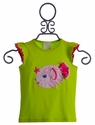 Lemon Loves Lime Puffer Fish Girls Top