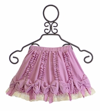 Lemon Loves Lime Purple Pretty Bow Skirt for Girls (4 & 7)