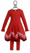 Lemon Loves Lime Red Ruffle Dress with Leggings (4 & 6)