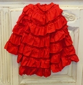 Lemon Loves Lime Ruffle Blanket for Baby Girls Red