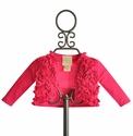 Lemon Loves Lime Ruffle Emma Cardigan in Fuchsia