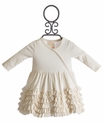 Lemon Loves Lime Ruffled Jada Ivory Infant Dress