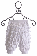 Lemon Loves Lime Ruffled Pants for Baby Girls White