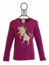 Lemon Loves Lime Unicorn Tee in Purple (2,3,4)