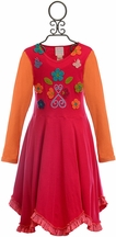 Lemon Loves Lime Vivid Autumn Dress for Girls (7 & 8)