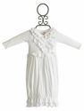 Lemon Loves Lime White Infant Gown Jenna Ruffles