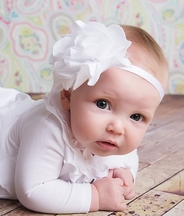Lemon Loves Lime White Infant Headband