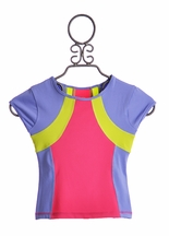 Lime Apple Invincible Short Sleeve Top Active Wear (4,5,6,7/8)