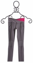 Limeapple Girls Activewear Detailed Leggings in Charcoal