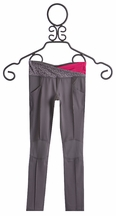 Limeapple Girls Activewear Detailed Leggings in Charcoal (Size 8)