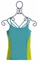 Limeapple Girls Activewear Racerback Tank in Teal