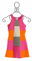Limeapple Party Dress for Tweens Fuchsia Tangerine (7 & 14)