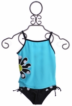 Limeapple Tankini in Turquoise for Tweens (Size 10)