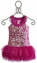 Lipstik Girls Fuchsia Embroidered Sequin Tutu Dress