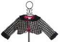 Lipstik Girls Houndstooth Little Girls Faux Fur Shrug