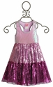 Lipstik Girls Little Girls Purple Sequin Tier Dress