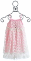 Lipstik Girls Pink and Ivory Lace Girls Dress