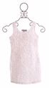 Lipstik Girls Tween Dress White Lace and Chiffon
