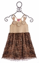 Lipstik Girls Tween Girls Dress Ivory and Leopard Chiffon